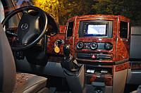 Volkswagen Crafter 2006+ и 2011+ гг. Накладки на панель (большой комплект) Дерево