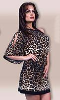 Платье женское леопард шнурок
