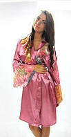 """Шелковый халат """"Джессика"""" розовый"""