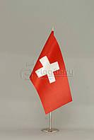 Флажок Швейцарии 13,5*25 см., плотный атлас