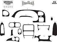 Chevrolet Trailblazer 2002+ гг. Накладки на торпеду Алюминий