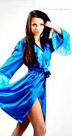 """Халат шелковый """"Джессика"""" голубой, фото 1"""