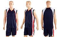 Форма баскетбол. мужск. без номера CO-1509-BK (PL, р-р M-XXXL, черный)