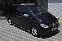 Mercedes Vito W639 2004-2015 гг. Боковые трубы BB002 (2 шт., нерж.) d70, Длинная база