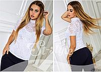 Нарядная женская блуза из гипюра, норма ,ST Style