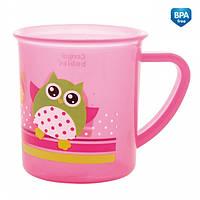 Чашка пластиковая Пираты с совой (200 мл) розовая, Canpol babies (4/408-3)
