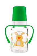 Бутылочка для кормления Ферма 120 мл (салатовый зайчик), Canpol babies (11/823-4)