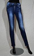 Джинсы женские стильные, облегающие,  с декоративными царапками и легкой теркой, размеры 25-30.       28