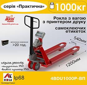 Весы-рокла Аxis 4BDU1000Р-В-П с принтером этикеток