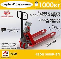 Рокла с весами и принтером этикеток Аxis 4BDU1000Р-В-П