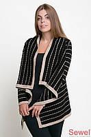 Женская шаль-накидка вязаная