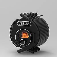 Печь  калориферная на дровах «Vesuvi» classic «04» стекло+перфорация