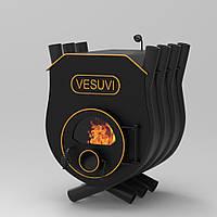 Печь калориферная «Vesuvi» «03» с варочной поверхностью и стекло или перфорация