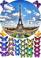 Париж2  Вафельная картинка