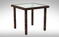 Стол для кафе плетеный  ротанга Lepre 80х80см