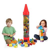 Конструктор детский Crayola большие детали, в наборе 70 блоков, Крайола, УЦЕНКА, фото 1