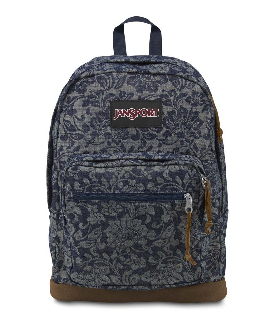 Рюкзак JanSport Right Pack Backpack  (Blue Floral Sparkle Jacquard - Expressions)