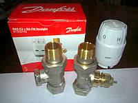 Терморегулятор с термоголовкой Danfoss RAS прямой