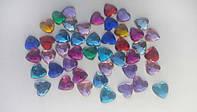 Сердечки цветные 1 см (50 шт)