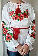 Вышиванка с маками для девочек  ВО107, фото 1