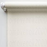 60 см х 170 см. Ткань Лен, белая. Рулонные шторы, Тканевые роллет