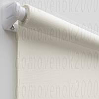 67,5 см х 170 см. Ткань Лен, белая. Рулонные шторы, Тканевые роллет
