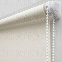 55 см х 170 см. Ткань Лен, белая. Рулонные шторы, Тканевые роллет