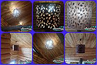 Подвесной светильник из шпона
