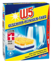 W5 All-in-1 Таблетки для митья посуды в посудомоечной машине Geschirr-Reiniger-Tabs, 40+4 штук