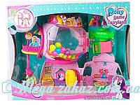 Домик Pony Park 2388 (аналог My little Рony/Литл Пони): 2 пони + свет/звук