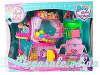 Домик Pony Park (аналог My little Рony/Литл Пони): 2 пони + свет/звук