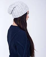 Вязанная женская шапка