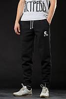 Зимние спортивные штаны (утепленные) Ястребь чёрные, фото 1