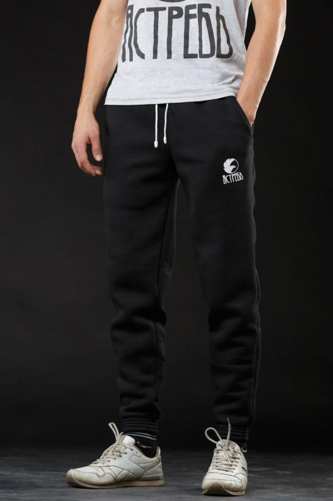 8088940e Зимние спортивные штаны (утепленные) Ястребь чёрные -
