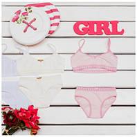 Комплект детского белья для девочек ТМ Фламинго (майка+трусики) артикул 296-416