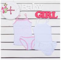 Комплект детского белья для девочек ТМ Фламинго (майка+трусики) артикул 305-1007