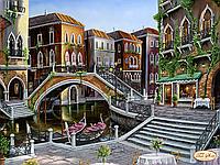 """Схема для вышивки бисером """"Венецианскими улочками"""""""