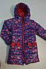 Пальто демісезонне для дівчинки з принтом, фото 4