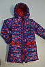 Пальто для девочки демисезонное с принтом, фото 4