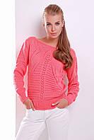 Красивый женский свитер ажурная вязка 44-50, в расцветках