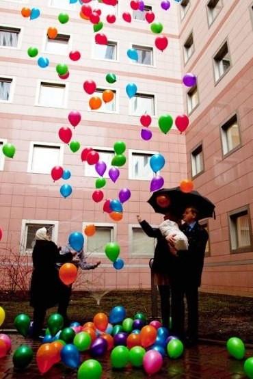 Воздушные шары для выписки из роддома