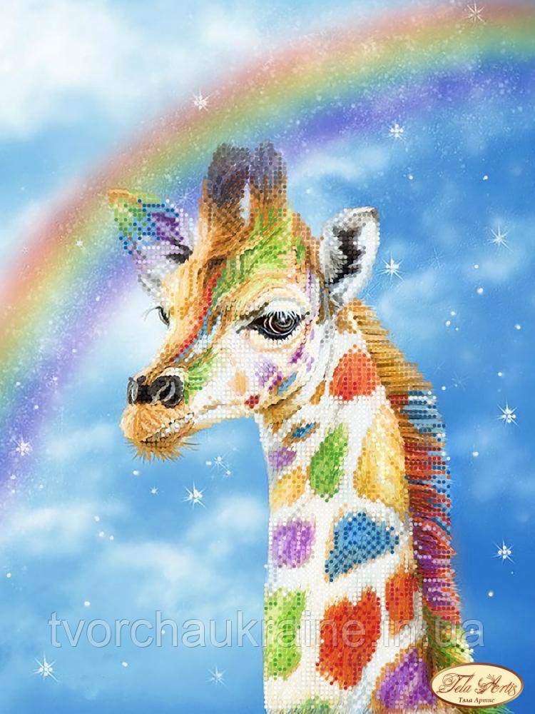 """Схема для вышивки бисером """"Радужный жираф"""""""