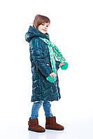 Зимняя  курточка для девочки Янина цвет бутылка