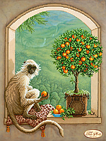 """Схема для вышивки бисером """"Хранитель апельсинового дерева"""""""