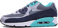 Мужские кроссовки Nike Air Max 90 Essential (найк аир макс) сине-серые