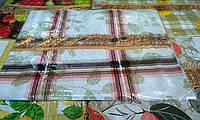 Скатерть с бахромой на фланелевой основе 110/140