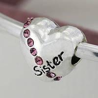 Шарм pandora Сестра pink