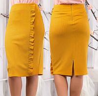 Однотонная юбка в деловом стиле S M L XL XXL 3XL 4XL