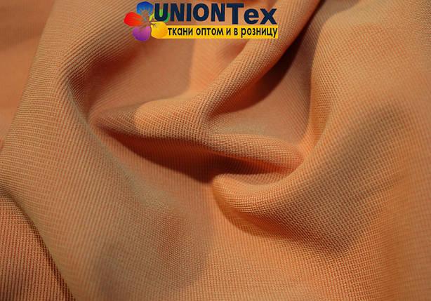 Трикотаж оттоман светло- оранжевый, фото 2