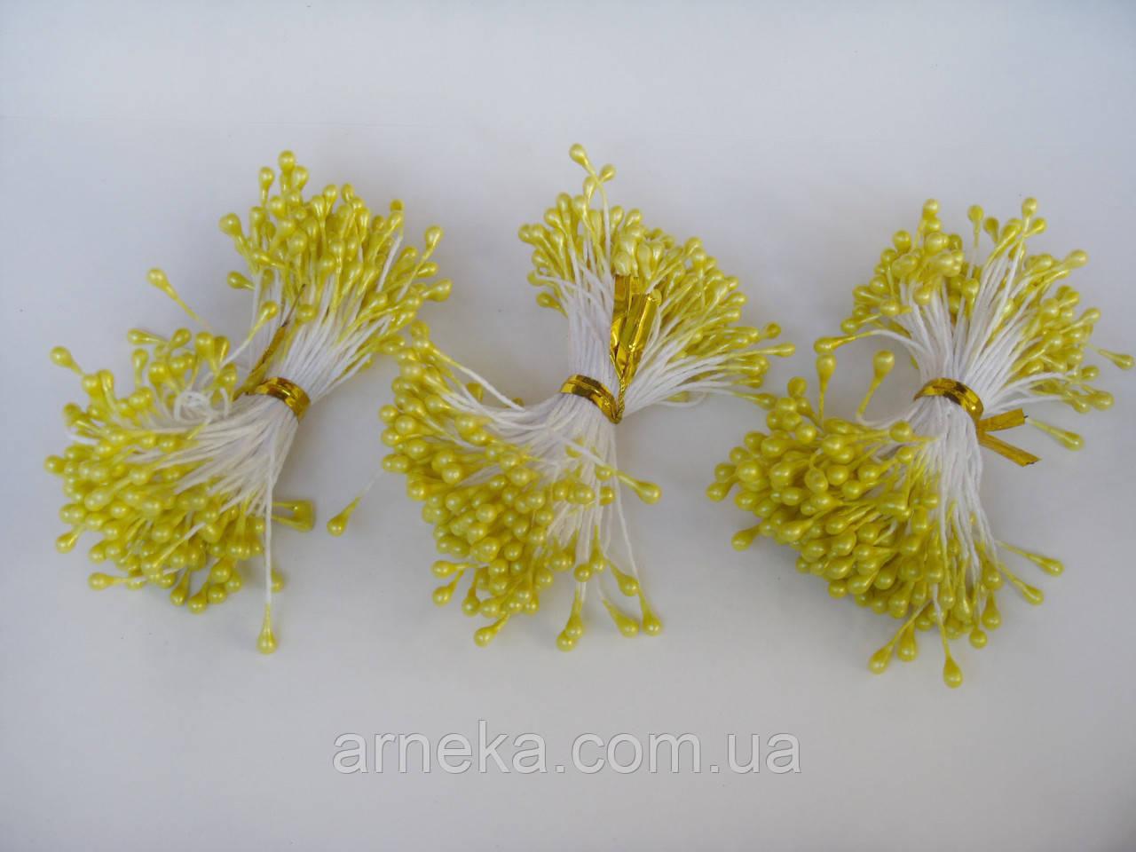 Тычинки на нитке двухсторонние желтые